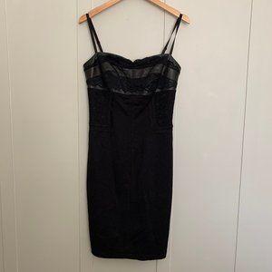 Women's Danier Leather & Lace Dress